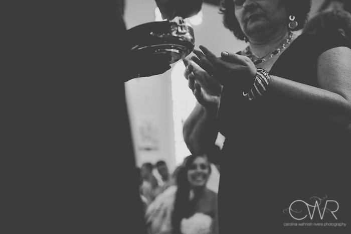 St Mary of the Lake church wedding: creative communion photo