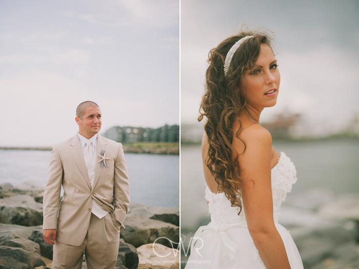 Manasquan beach bride groom portraits