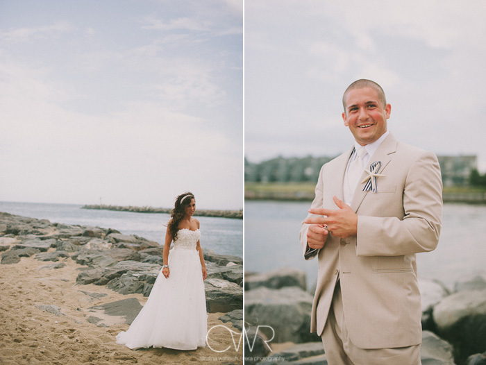 Manasquan inlet bride and groom portraits