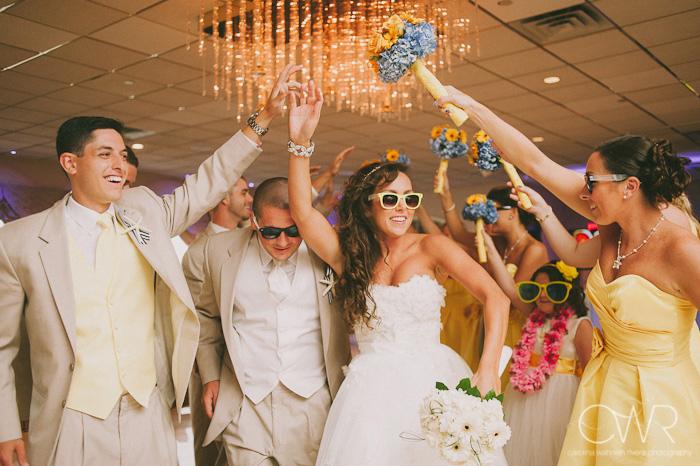 Wedding at Crystal Point Yacht Club: entrance arch