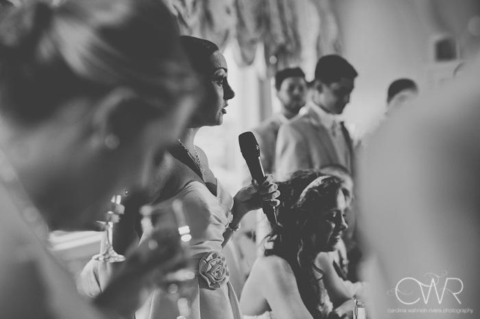 Wedding at Crystal Point Yacht Club speeches