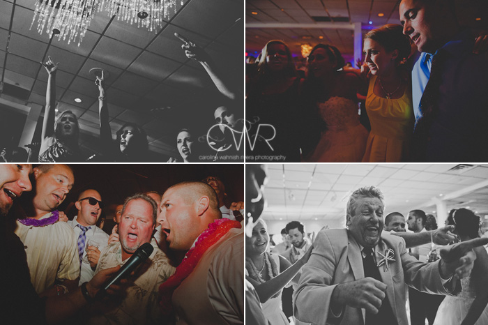 Wedding at Crystal Point Yacht Club crazy dancing photos 2