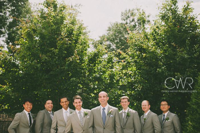 Lake House Inn Perkasie PA Wedding: groomsmen portrait creative