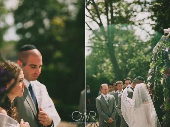 Jewish wedding ceremony at the Lake house Inn Perkasie PA