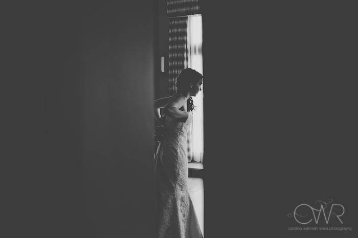 Lake House Inn Perkasie PA Wedding: bride getting dressd in bridal suite