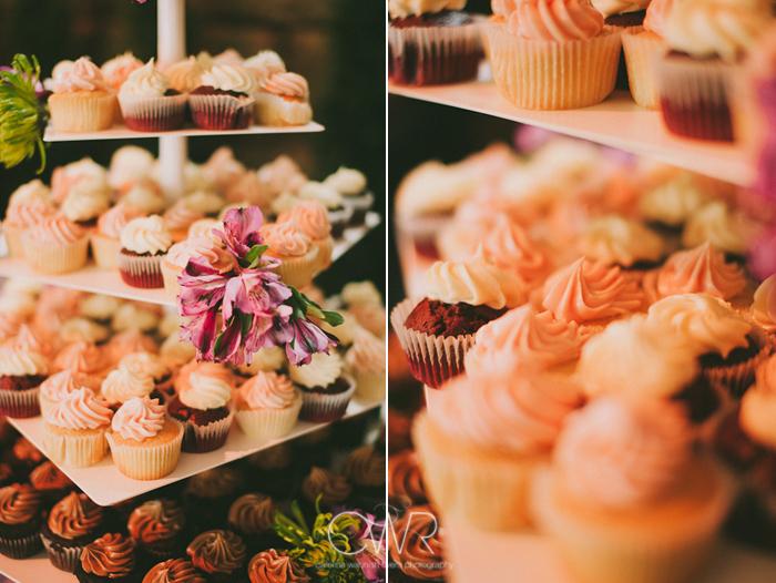 Lake House Inn Perkasie PA Wedding: cupcake wedding cake tower
