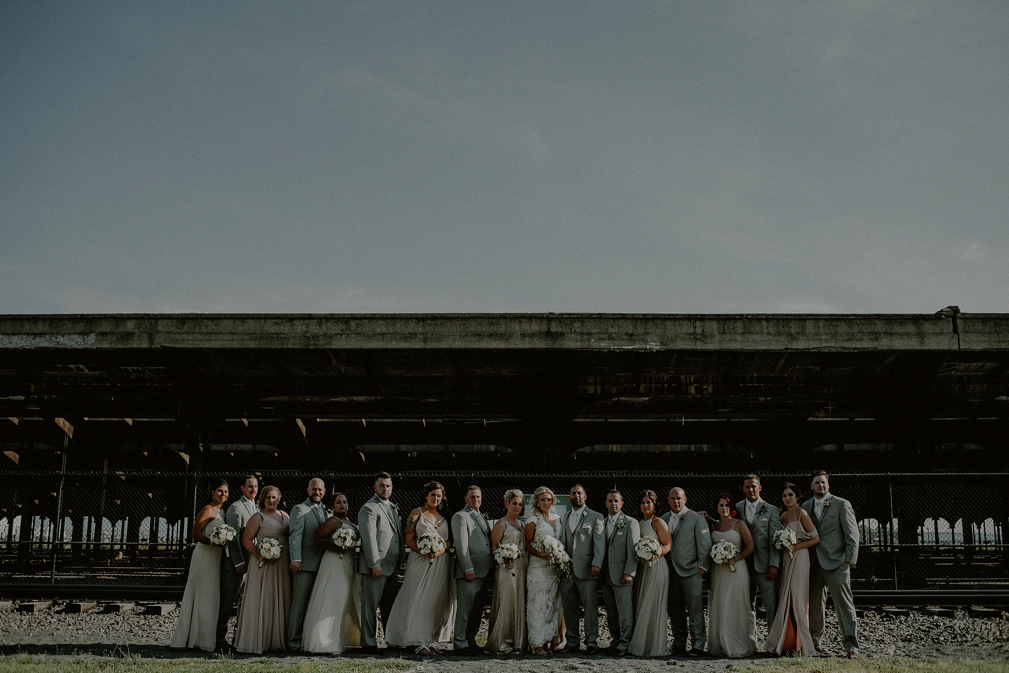 dramatic light wedding portraits