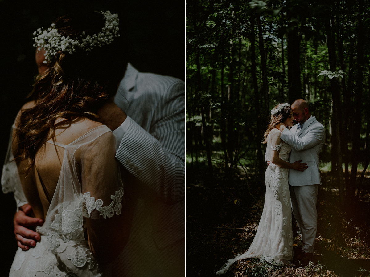 woodsy wedding portraits