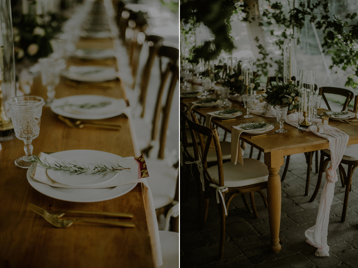 tuscan themed wedding