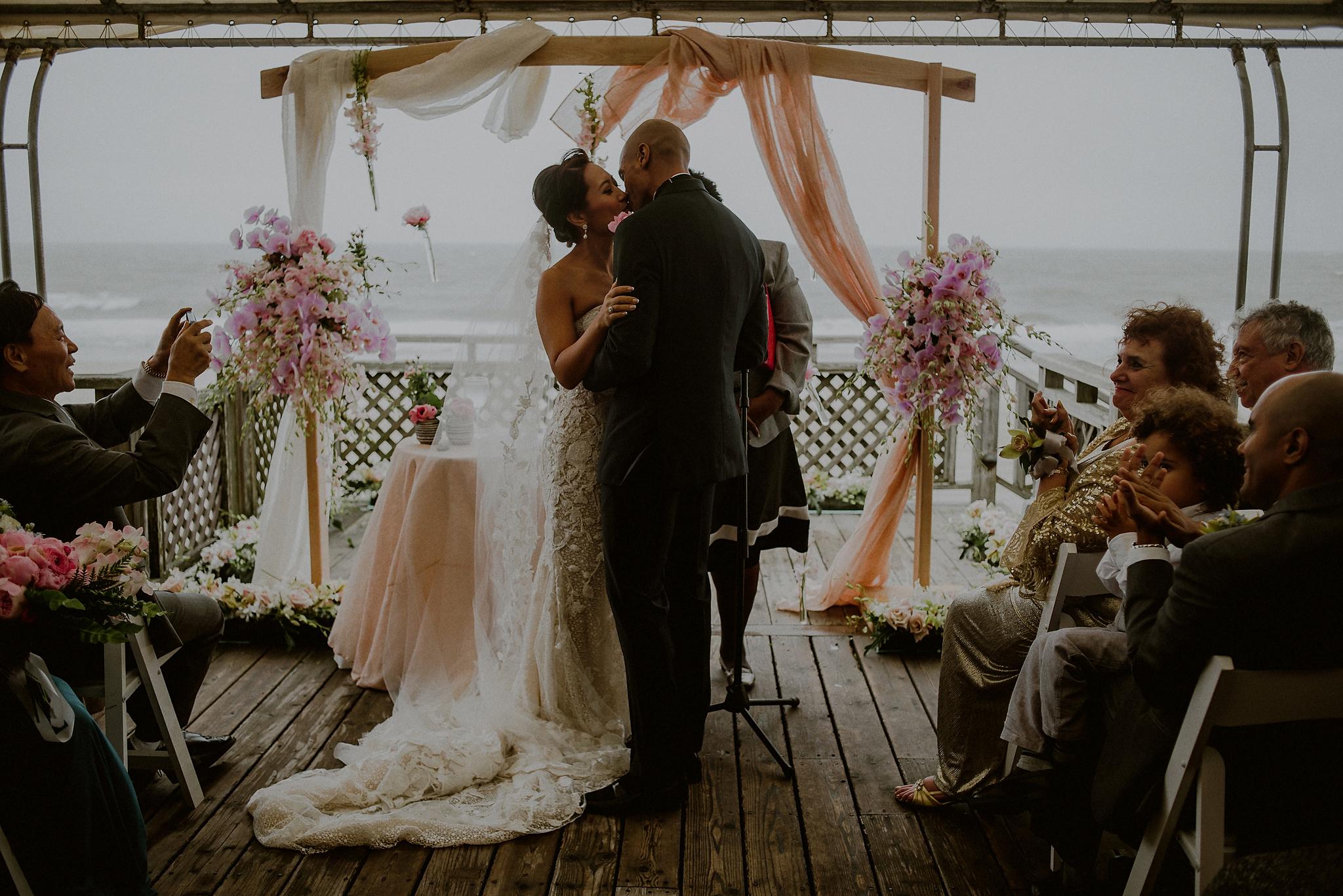 beach wedding in hamptons
