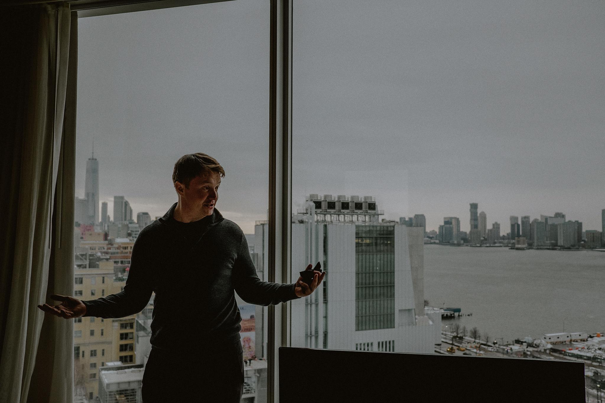 new york skyline view wedding