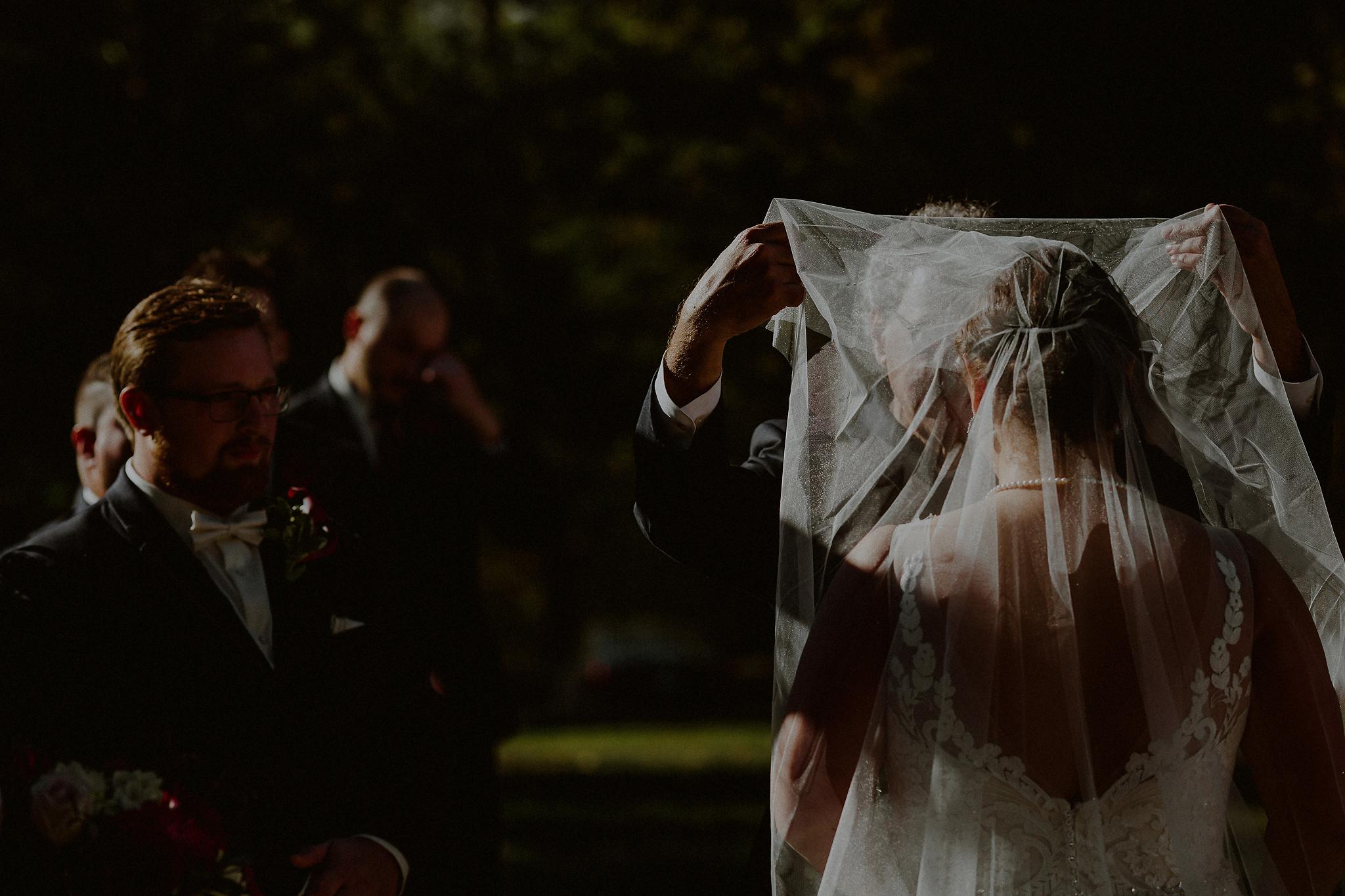 outdoor fall wedding ceremony