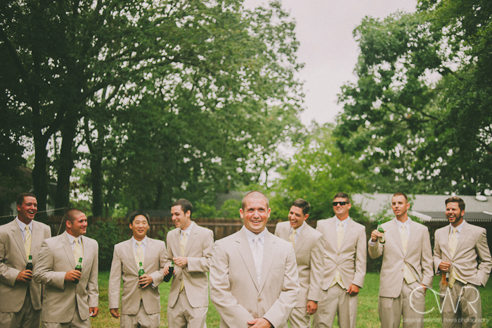 groom and groomsmen silly photo