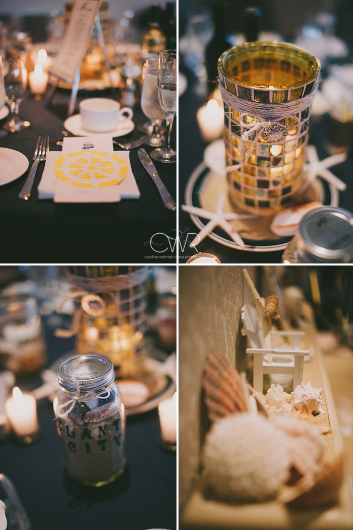 Wedding at Crystal Point Yacht Club: sailing themed details