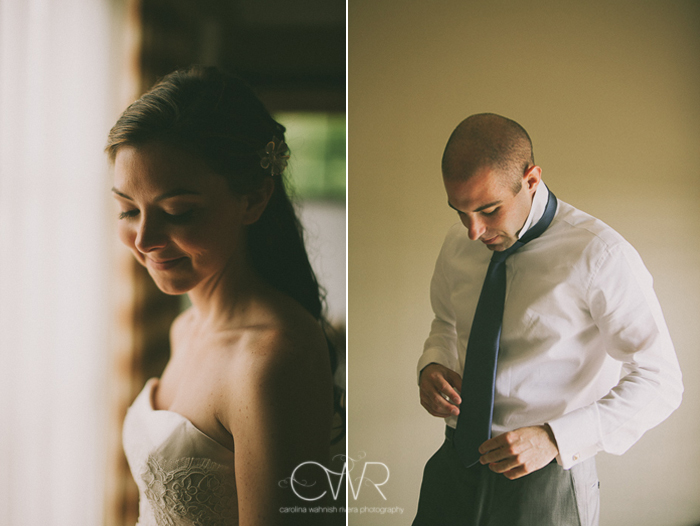Lake House Inn Perkasie PA Wedding: bride and groom getting ready