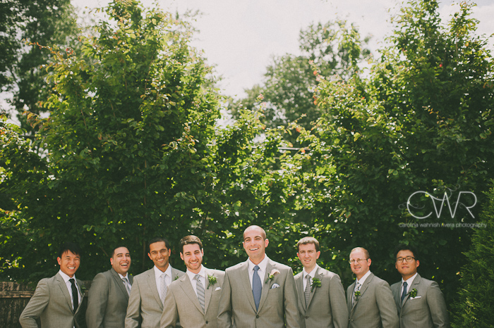 Lake House Inn Perkasie PA Wedding: groomsmen portrait creative