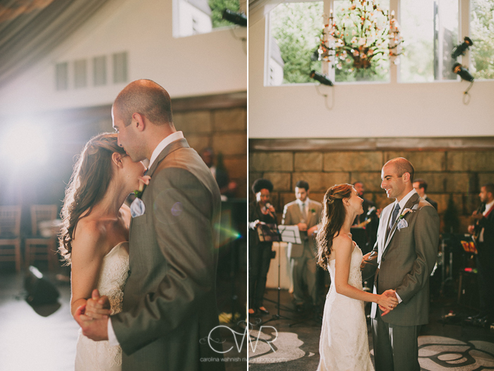 Lake House Inn Perkasie PA Wedding: bride and groom first dance under covered reception tent