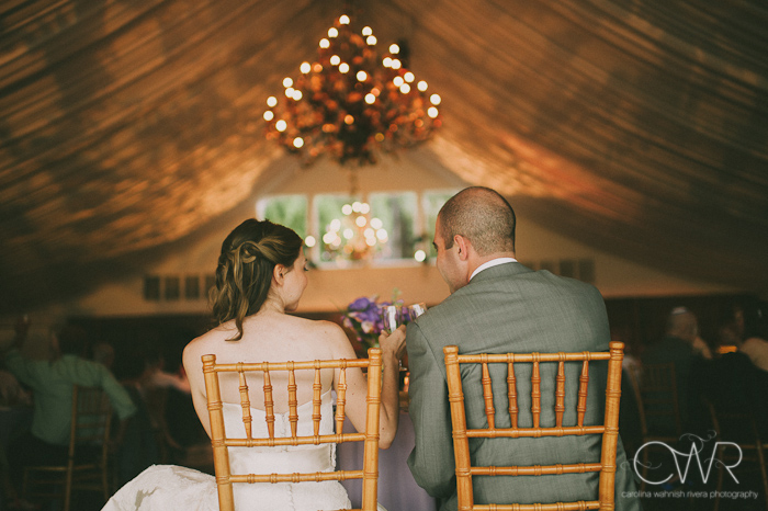 Lake House Inn Perkasie PA Wedding: bride and groom in wooden chairs sweetheart table