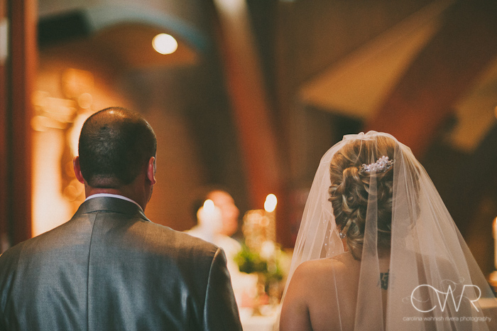 Church of Saint Margaret Morristown NJ: Bride and groom in church
