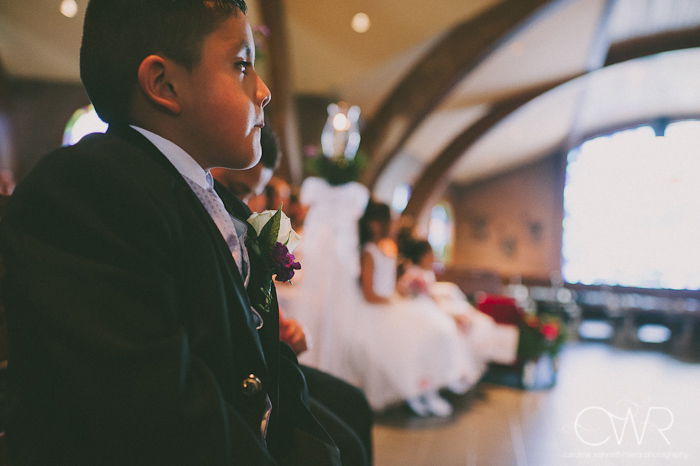 Church of Saint Margaret Morristown NJ Wedding: boy looking
