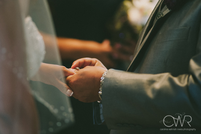 Church of Saint Margaret Morristown NJ Wedding: ring exchange