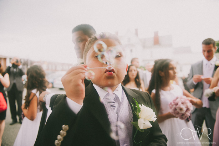 Church of Saint Margaret Morristown NJ Wedding: bubbles exit