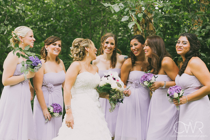 Olde Mill Inn Basking Ridge NJ Wedding: bridesmaids laughing