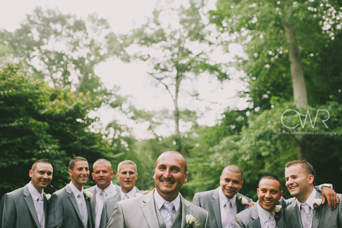 Olde Mill Inn Basking Ridge NJ Wedding: Groomsmen laughing
