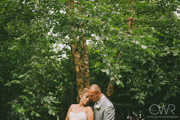 Olde Mill Inn Basking Ridge NJ Wedding: Bride and groom sweet moment in garden
