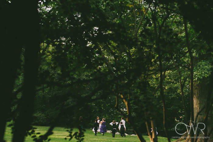 Olde Mill Inn Basking Ridge NJ Wedding: children playing in garden
