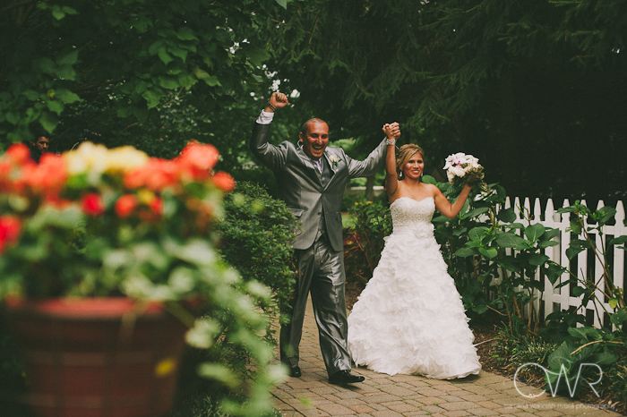 Olde Mill Inn Basking Ridge NJ Wedding: bride and groom entrance