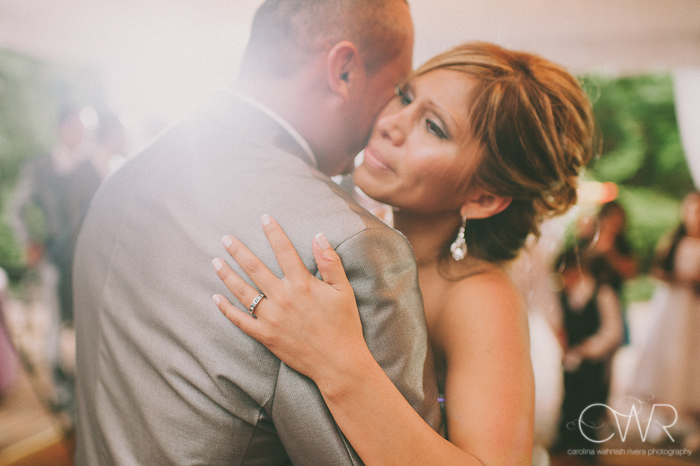 Olde Mill Inn Basking Ridge NJ Wedding: bride and groom first dance