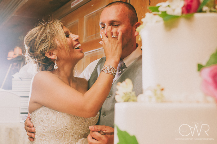 Olde Mill Inn Basking Ridge NJ Wedding: cake cutting
