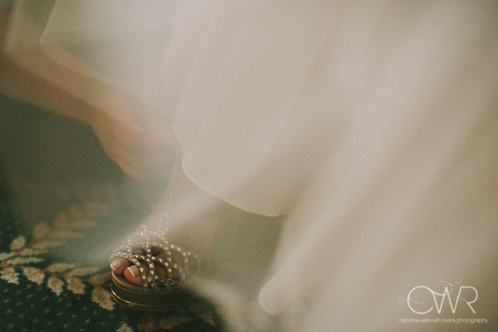 Olde Mill Inn Basking Ridge NJ Wedding: Bride shoes