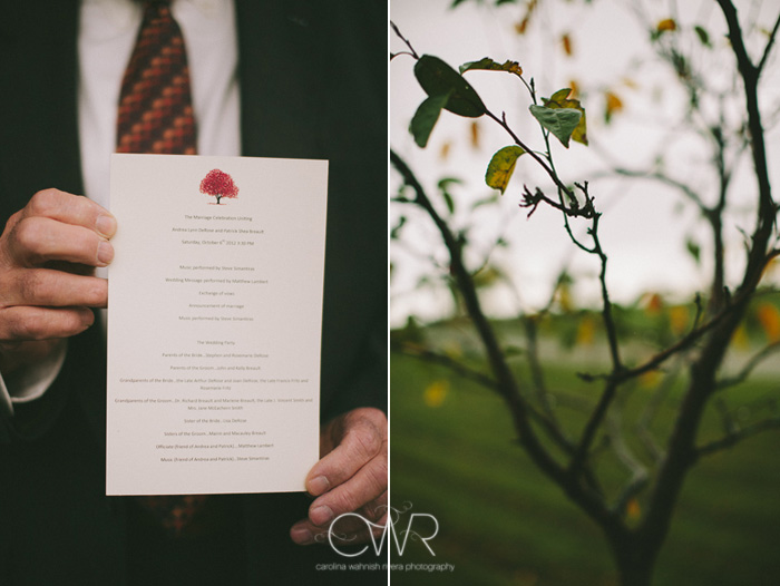 farm wedding in october rainy day