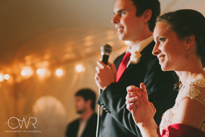 vintage wedding photographer, creative lighting during bride groom speech