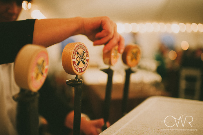 vintage wedding photographer, local brewery in upstate ny during reception