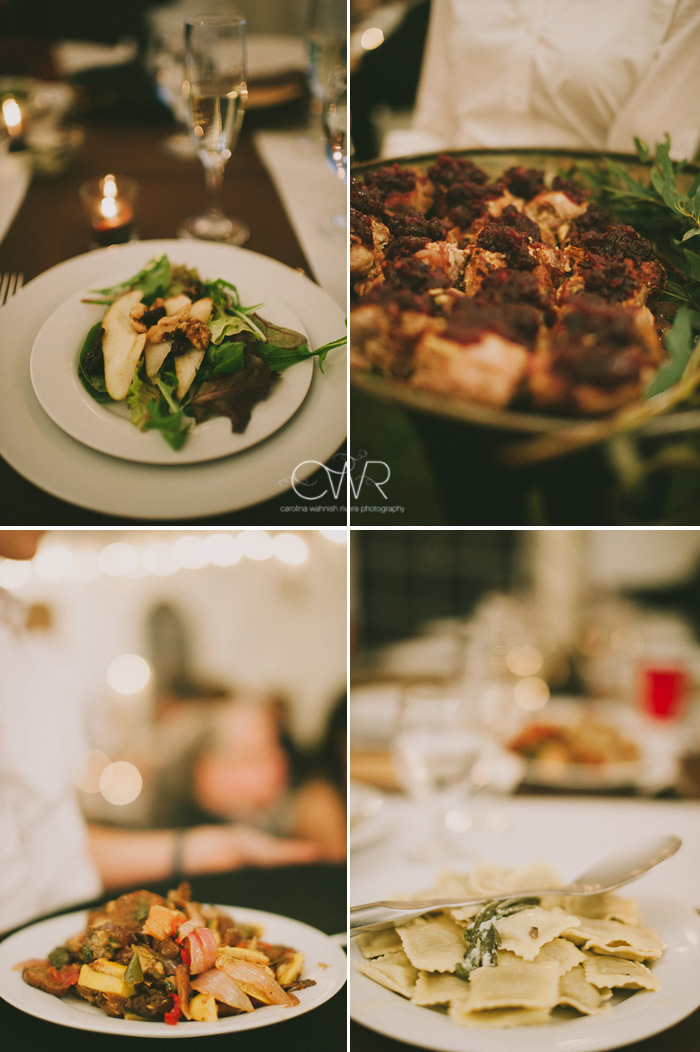 vintage wedding photographer details of local catering at reception