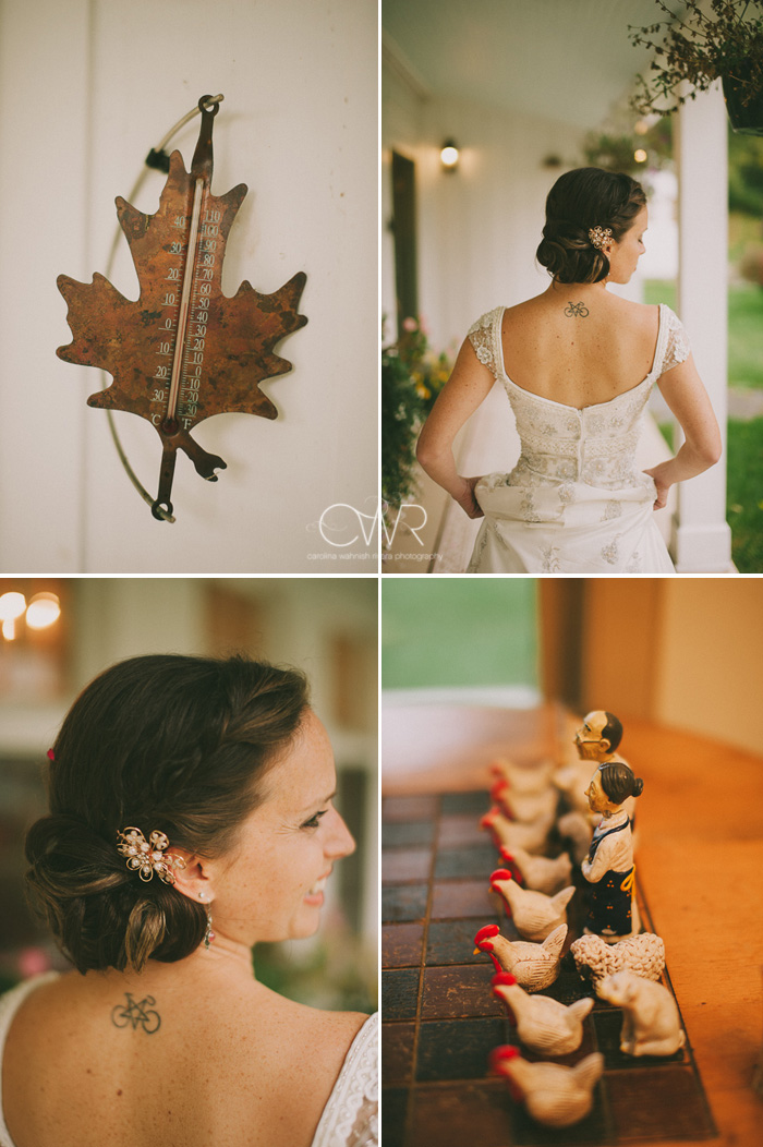 october backyard wedding details and weather