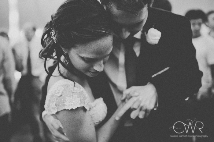 candid wedding photography in black and white, last dance photo