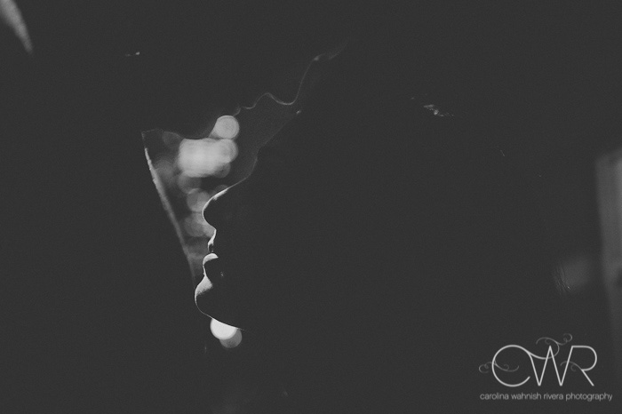 boston wedding silhouette photo of couple in black and white