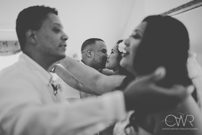 beautiful wedding photography in black and white of intercultural wedding