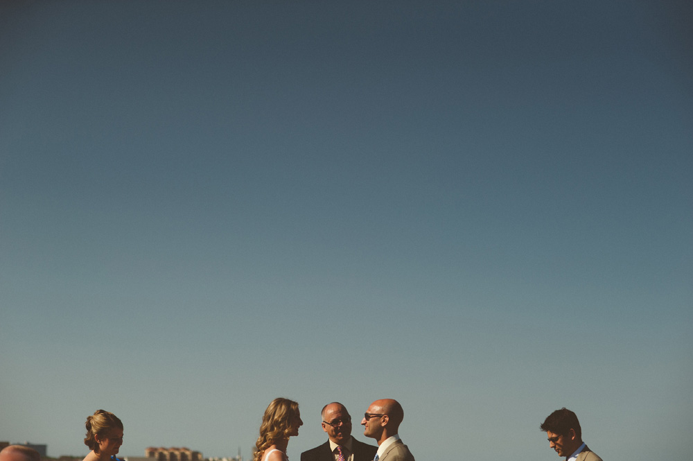 creative ceremony on the rooftop of the Avenue Long Branch Wedding