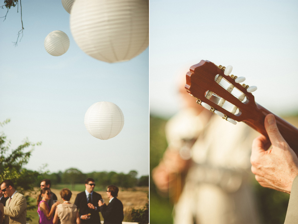 destination wedding photographer outdoor reception details and paper lantern decorations