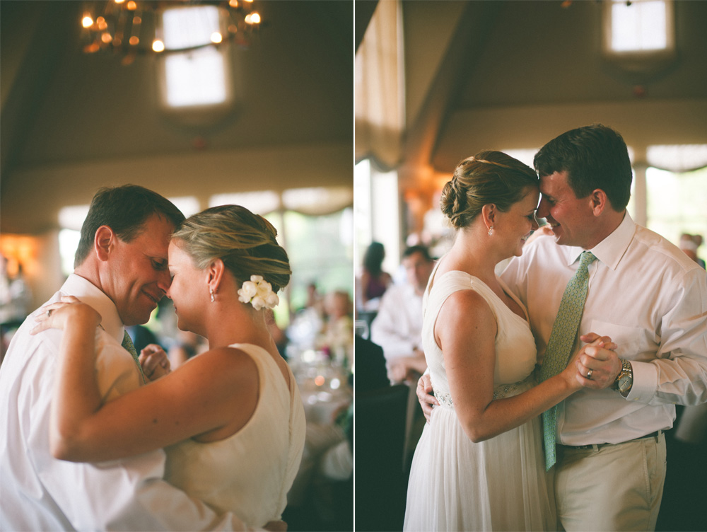 creative wedding photo of couple during first dance smiling