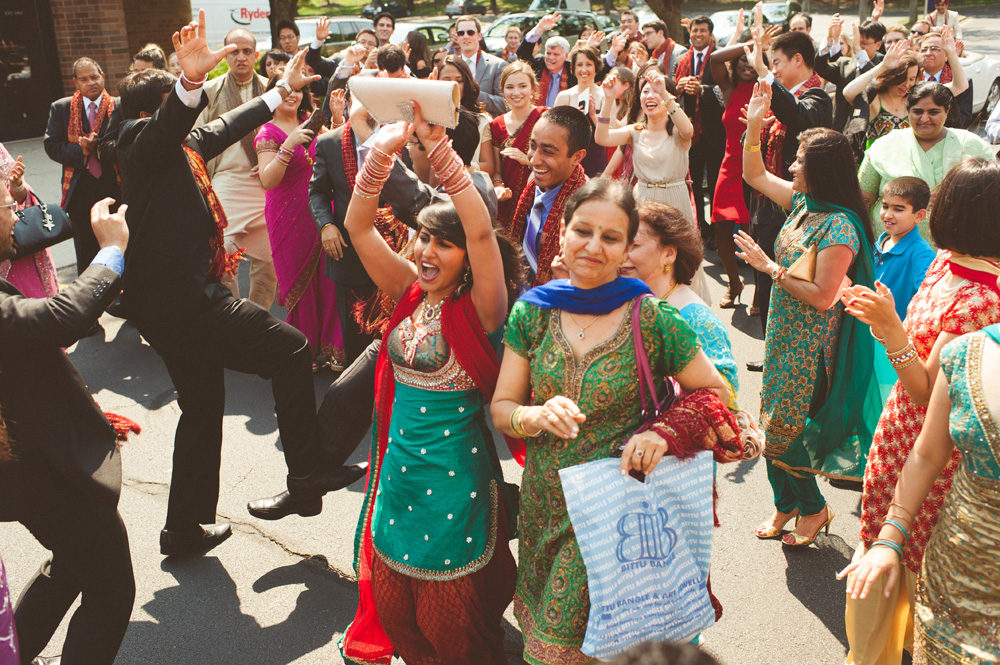 Baraat ceremony at Indian wedding in Parsippany New Jersey Hilton