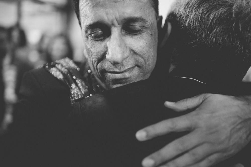 black and white emotional image of creative indian wedding photography during baraat