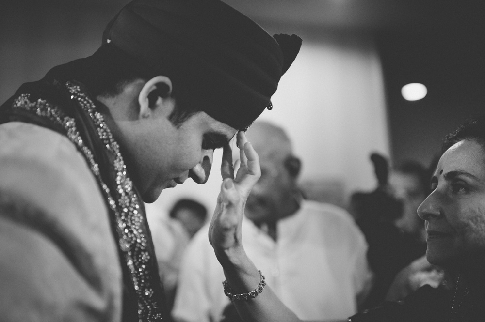 fine art creative indian wedding photography moment in black and white captured during baraat ceremony