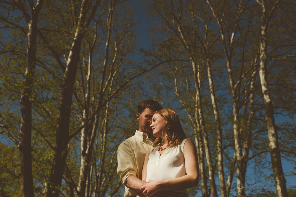 fine art wedding photography engagement session in the woods of new jersey