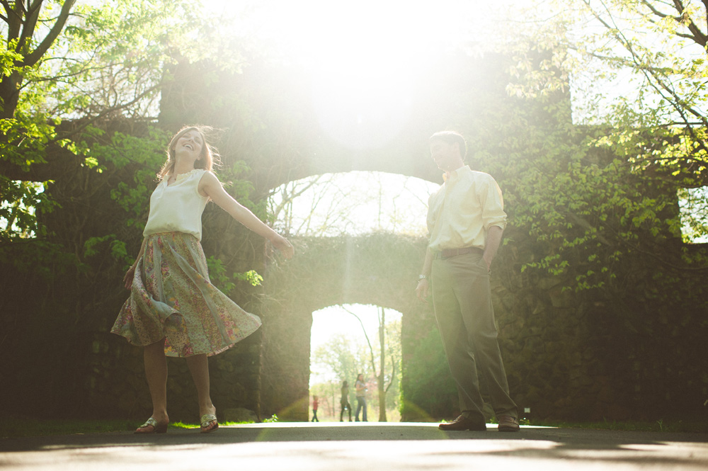 beautiful wedding photography in historic park in nj of couple laughing